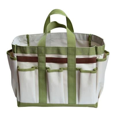 19 in. W 6-Pockets Garden Hand Tools Bag