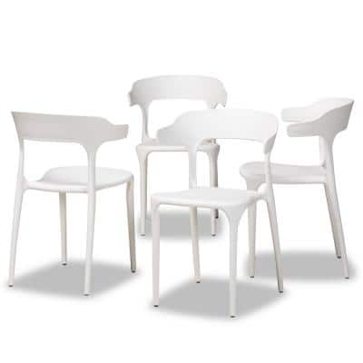 Gould White Dining Chair (Set of 4)