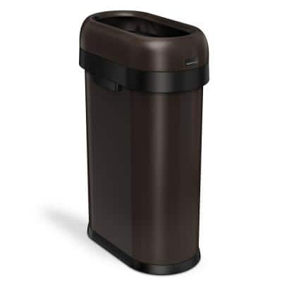 Bronze Copper Metallic Trash Cans Trash Recycling The Home Depot