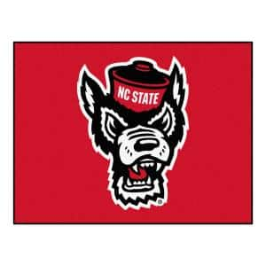 NCAA North Carolina State University 34 in. x 43 in. All Star Mat Area Rug
