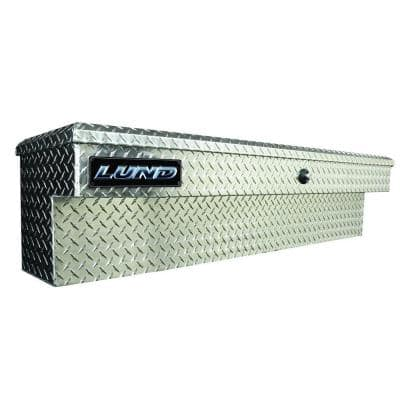 60 in Full Size Aluminum Side Mount Truck Box with mounting hardware and keys included, Silver