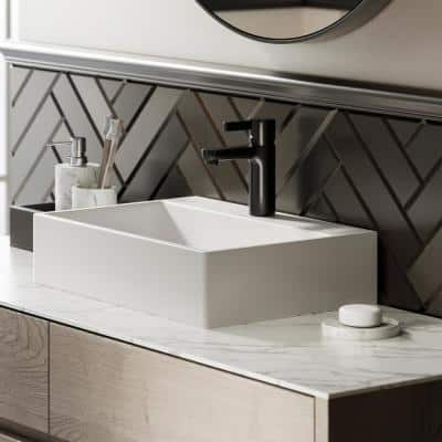 Claire Vessel Sink in Glossy White