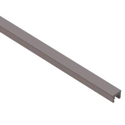 Dilex-KSN Dark Anthracite 7/16 in. x 8 ft. 2-1/2 in. Thermoplastic Rubber Replacement Insert For Tile Edge Trim