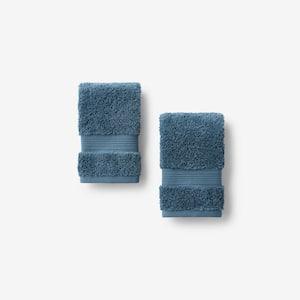 Legends Regal Storm Solid Egyptian Cotton Wash Cloth (Set of 2)