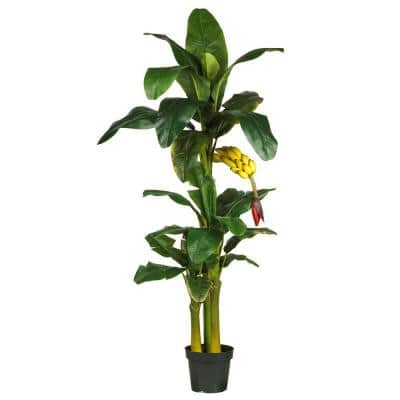 6 ft. Triple-Stalk Banana Silk Tree