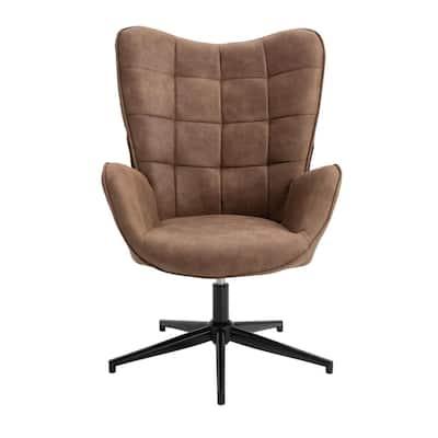 Swivel Camel Arm Chair Wingback Balloon Chair
