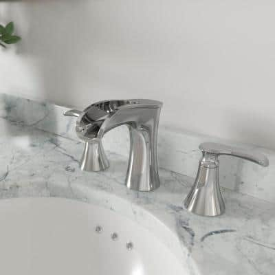 Jaida 8 in. Widespread 2-Handle Bathroom Faucet in Polished Chrome