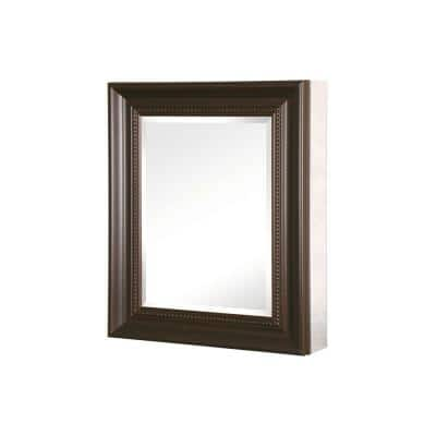 24 in. W x 30 in. H x 5-1/2 D Framed Recessed or Surface-Mount Bathroom Medicine Cabinet in Oil Rubbed Bronze