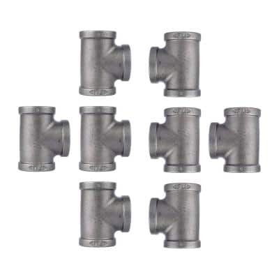 3/4 in. Black Iron Tee Fitting (8-Pack)