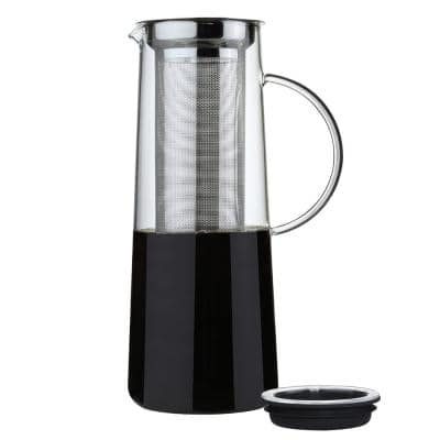 8-Cup Clear Stainless Glass Hot and Cold Brew Infuser Coffee Maker