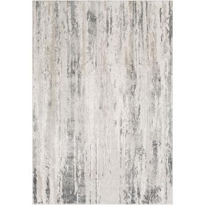 Marquis Medium Grey 2 ft. 7 in. x 5 ft. Abstract Area Rug