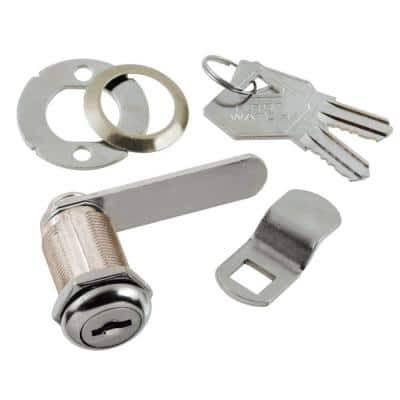 1-1/8 in. Chrome Keyed Alike Cabinet and Drawer Utility Cam Lock