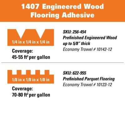 1407 4 Gal. Engineered Wood Flooring Adhesive