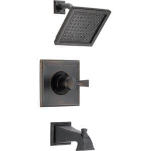 Dryden 1-Handle Tub and Shower Faucet Trim Kit Only in Venetian Bronze (Valve Not Included)