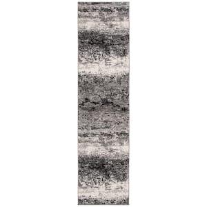 Spirit Charcoal/Light Gray 2 ft. x 8 ft. Runner Rug