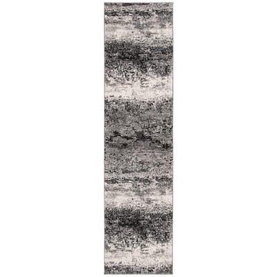 Spirit Charcoal/Light Gray 2 ft. x 8 ft. Solid Runner Rug