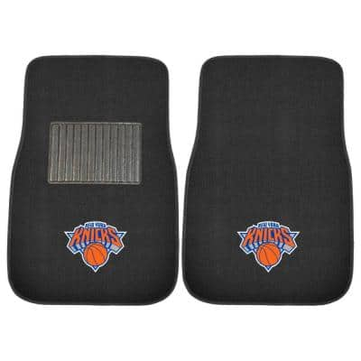 NBA New York Knicks 2-Piece 17 in. x 25.5 in. Carpet Embroidered Car Mat