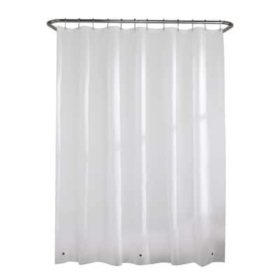 PEVA Medium 5-Gauge 70 in. W x 72 in. H Shower Curtain Liner in White