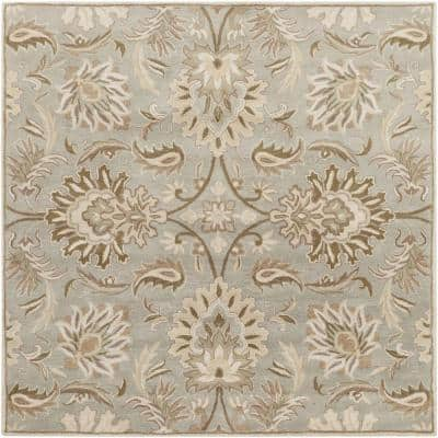 Vitrolles Gray 8 ft. x 8 ft. Square Indoor Area Rug