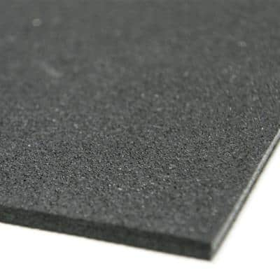 Recycled Rubber - 60A - Sheets and Rolls 3/8 in. T x 4 ft. W x 10 ft. L Black Rubber Garage Flooring