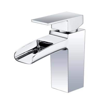 6.8 in. Single Hole Single-Handle Lever Vessel Bathroom Faucet in Chrome