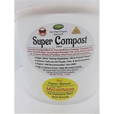 12 lbs. Super Compost with MYCO Concentrated 12 lbs. Makes 60 lbs.