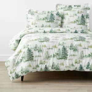 Company Cotton Lakeview Multi-Colored Twin Bamboo Sateen Comforter