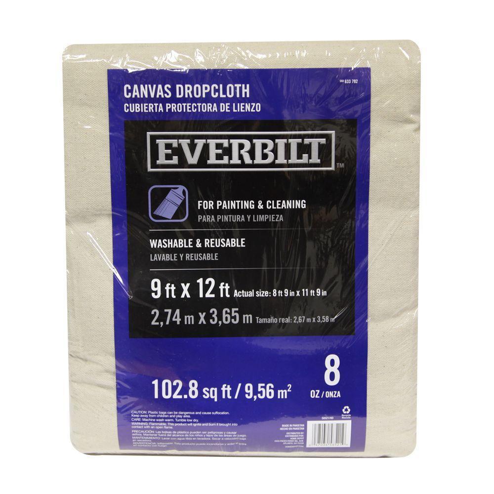 9 ft. x 12 ft. 8 oz. Heavyweight Canvas Drop Cloth