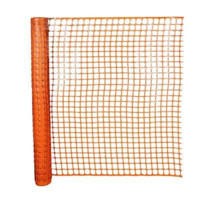 4 ft. x 50 ft. Safety Edge Fence in Orange