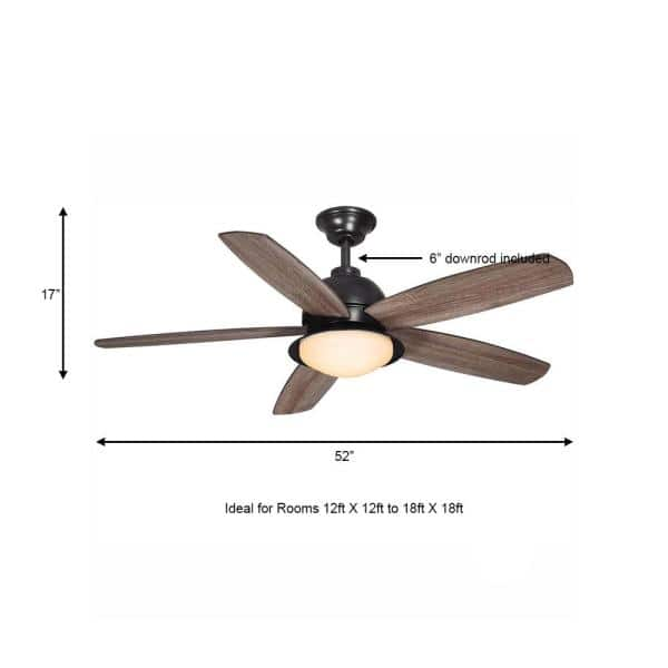 Home Decorators Collection Ackerly 52, Outdoor Ceiling Fans With Remote Control And Light