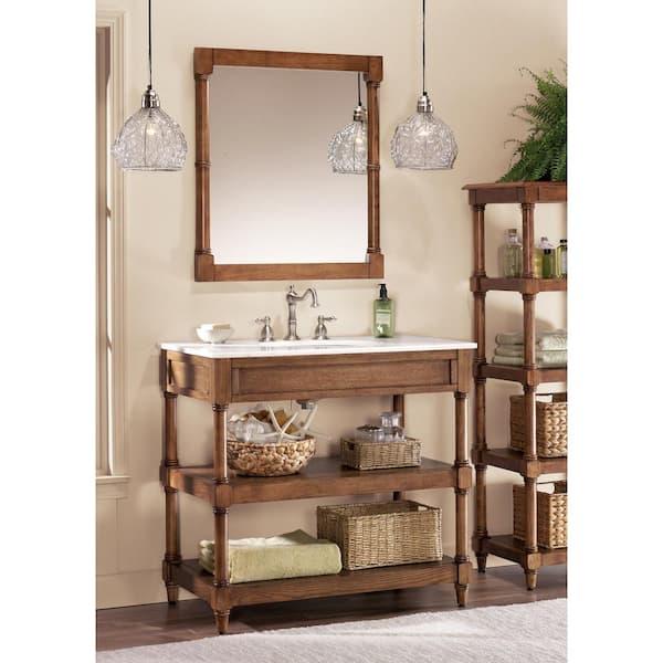 Weathered Oak, Weathered Oak Bathroom Vanity Mirror
