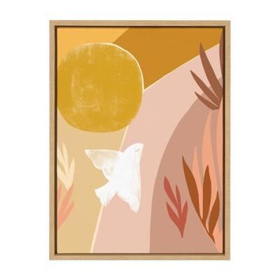 """Sylvie """"Sunrise Dove"""" by Kate Aurelia Studio Framed Canvas Wall Art"""