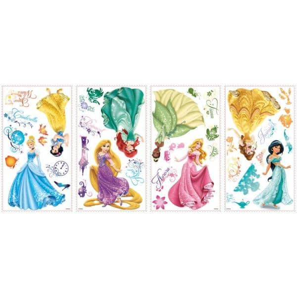 Disney Princesses Themed Lot of 40 Sticker Decals