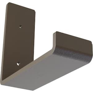 2 in. x 5 1/2 in. x 6 in. Hammered Brown Steel Hanging Shelf Bracket
