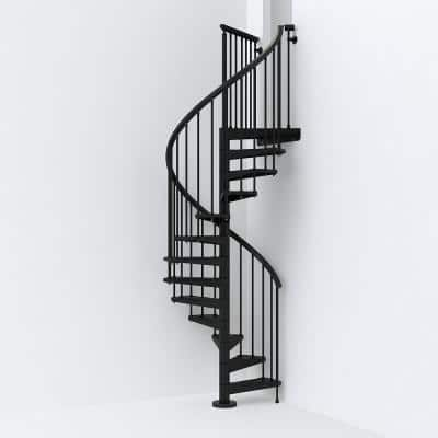 SKY030 47 in. Black Spiral Staircase Kit
