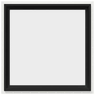 30 in. x 30 in. V-2500 Series Bronze FiniShield Vinyl Picture Window w/ Low-E 366 Glass