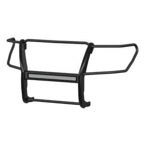 Pro Series Black Steel Grille Guard with Light Bar, Select Nissan Titan XD