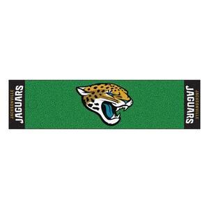 NFL Jacksonville Jaguars 1 ft. 6 in. x 6 ft. Indoor 1-Hole Golf Practice Putting Green