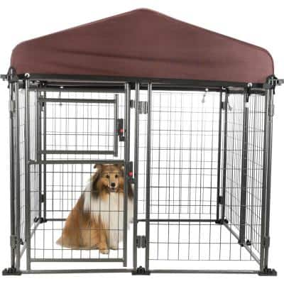 TRIXIE Deluxe Outdoor Dog Kennel with Cover, Medium