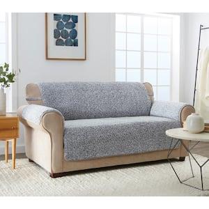 Cambridge Grey 1-piece Sherpa XL Sofa Furniture Cover