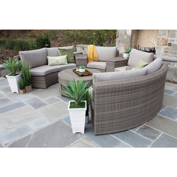 Canopy Cyprus 8 Piece Resin Wicker, Resin Wicker Outdoor Furniture