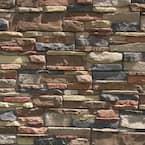 Easy Stack 5 in. x 20 in. Copper Hill No Mortar Concrete Ledge Stone Flat Panel 4.9 sq. ft. per box
