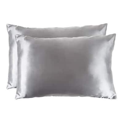 Microfiber Polyester Satin King Sized Pillowcase (Set of 2)