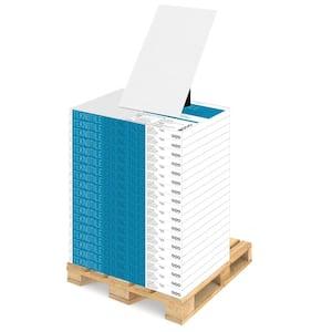 TeknoTile Stucco 2 ft. x 4 ft. Lay-In White Square Edge Ceiling Tile (1-Pallet)