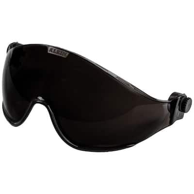 Safety Helmet Visor, Gray Tinted