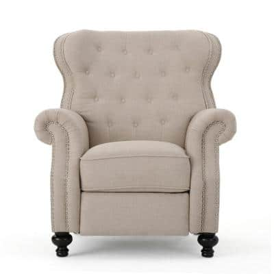 Walder 36 in. Width Big and Tall Wheat Fabric Wing Chair Recliner