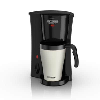 Brew'n Go Black Single Serve Coffee Maker with Travel Mug