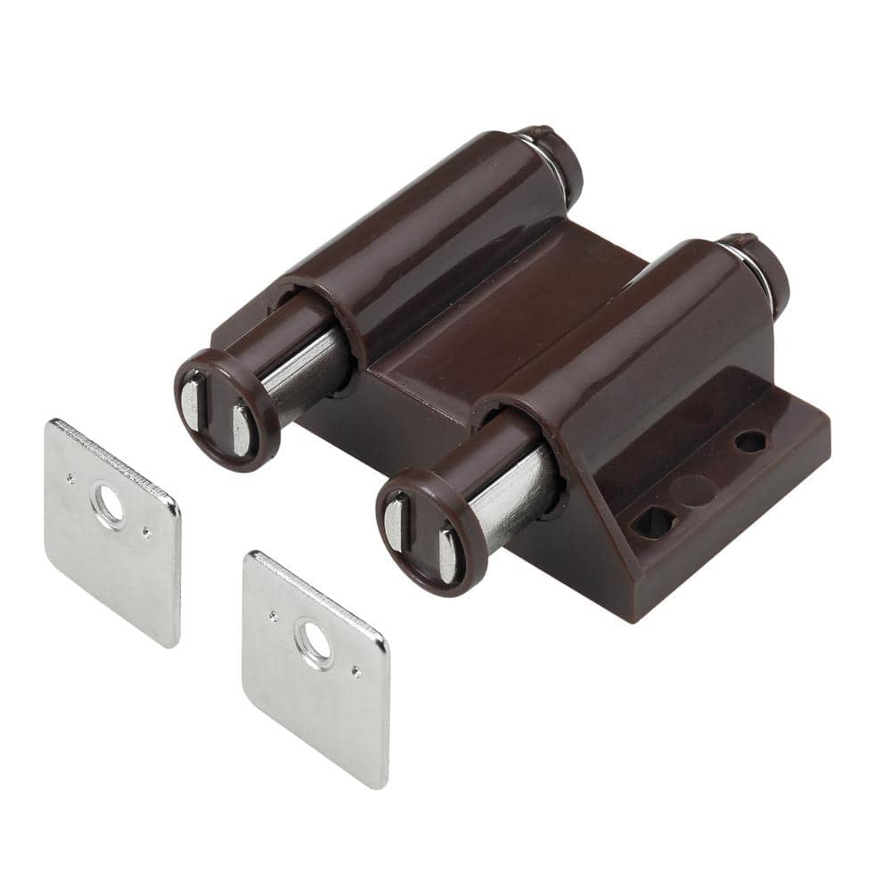 Everbilt Double Magnetic Touch Latch Brown 1 Pack 9236038 The Home Depot
