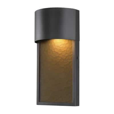 Sutherland 1-Light Bronze Outdoor Integrated LED Wall Lantern Sconce