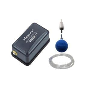 0.003 HP Single Valve Air Pump Kit with Air Stone and Check Valves